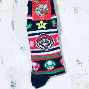 Christmas Adult Super Mario Bros Crew Socks